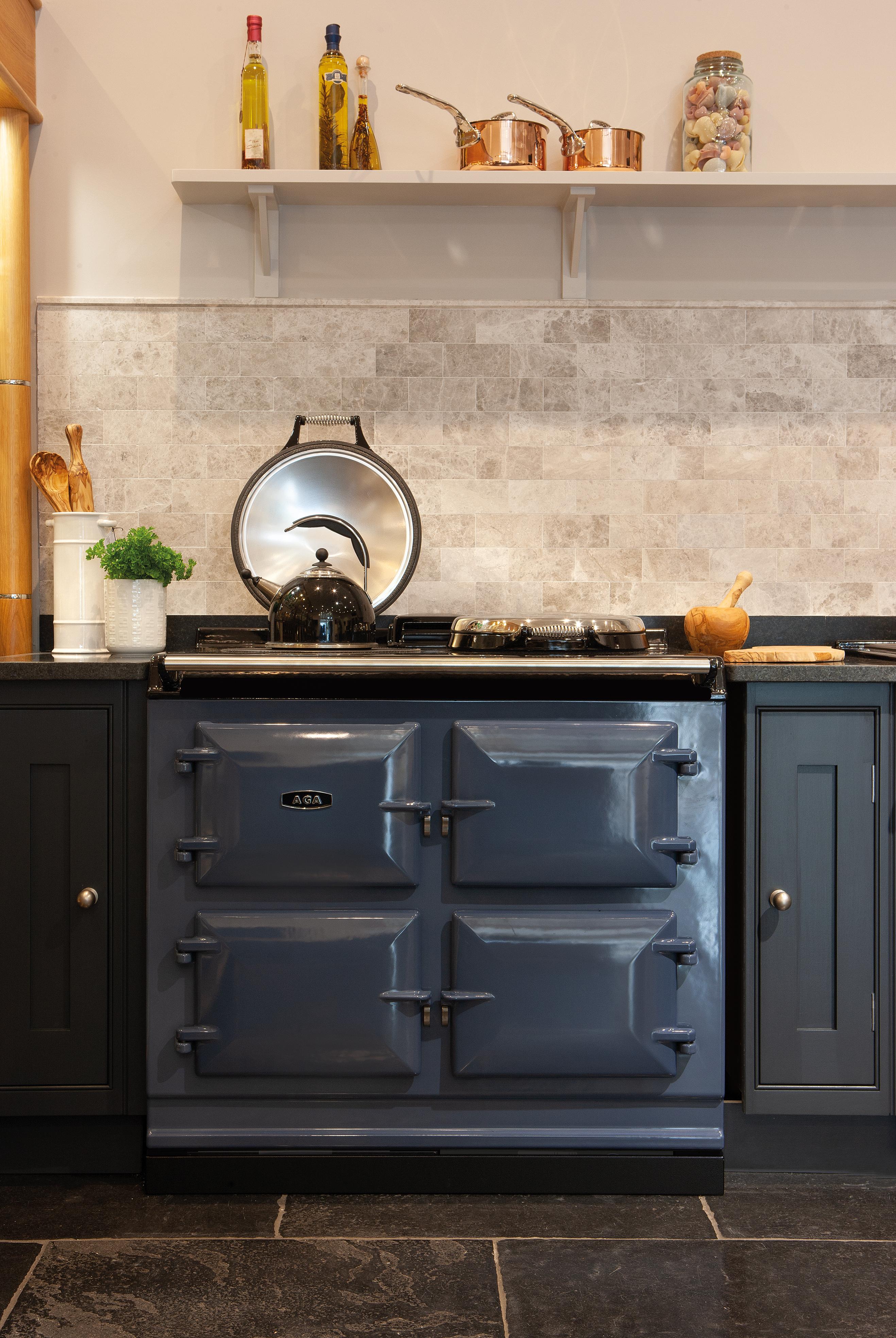 AGA R7 100-3, 3 oven AGA Cooker 7 Series in Dartmouth Blue
