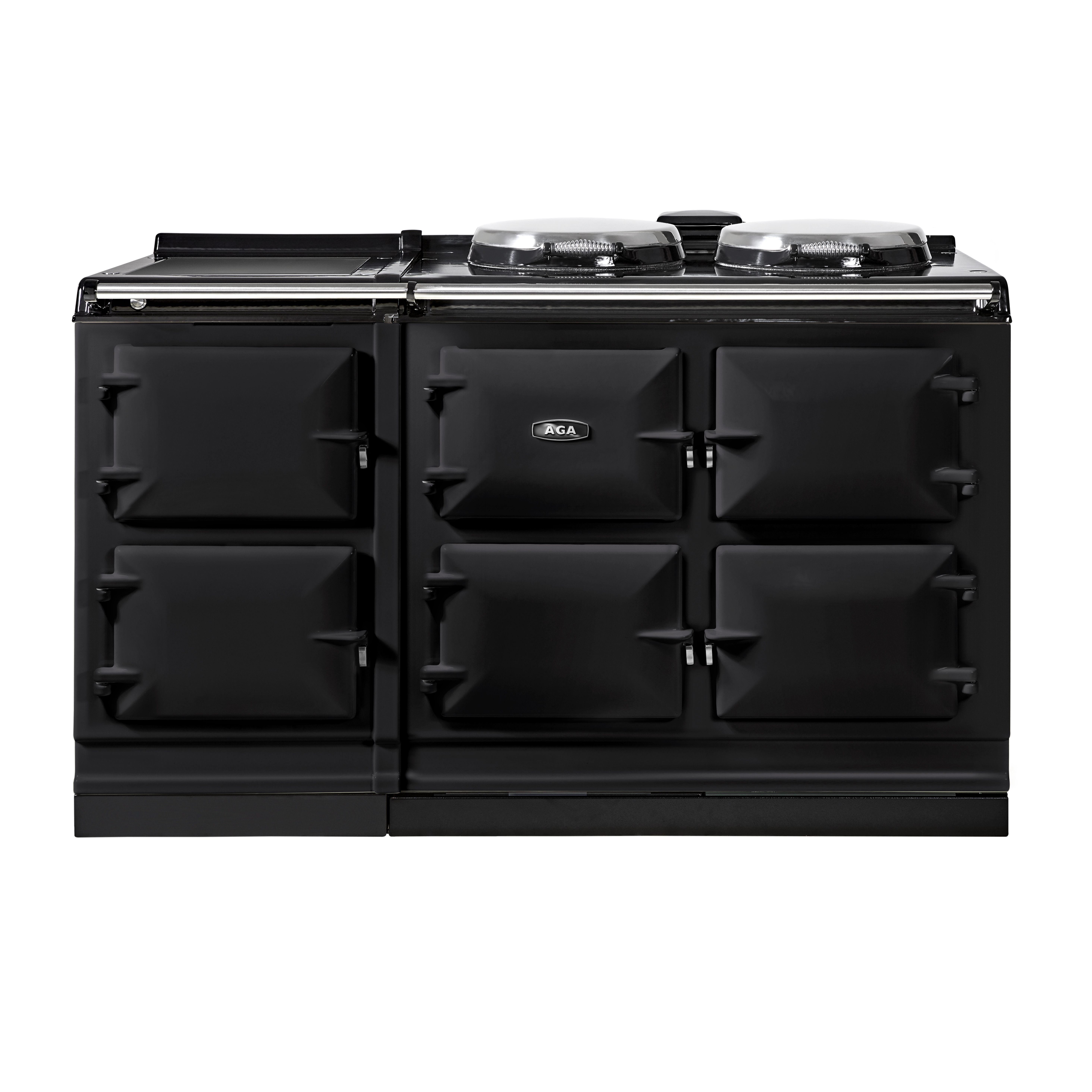 An AGA DC5i, five oven Dual Control with Induction Hob, in Black