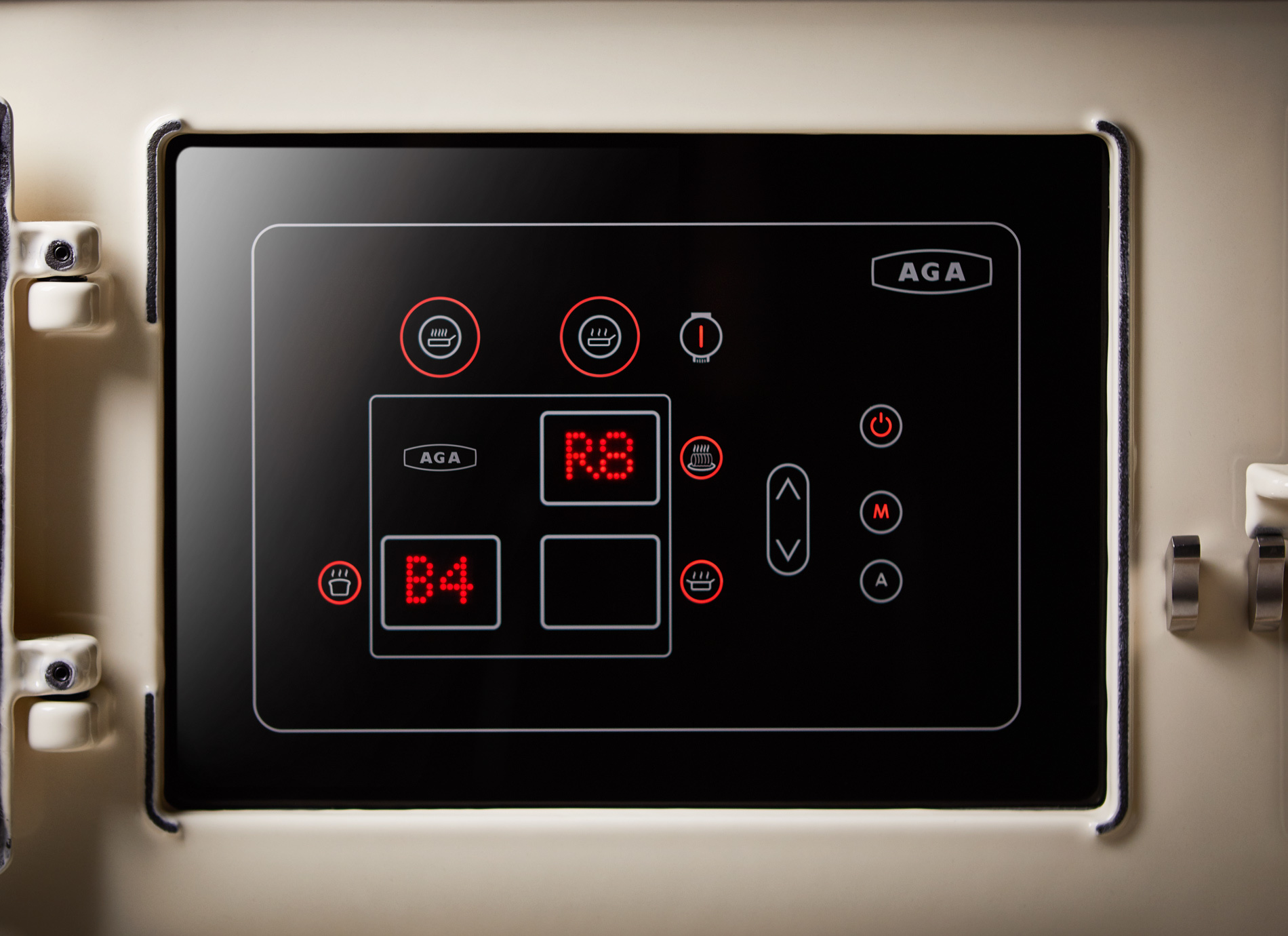 eR7 Control Panel showing temperature settings
