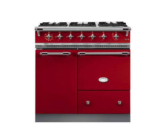 Lacanche Bussy 900mm Dual Fuel in Cherry Red