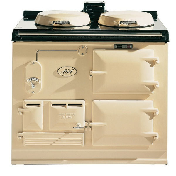 2 Oven, Gas, Powered Flue AGA, GC PF, in Classic Cream