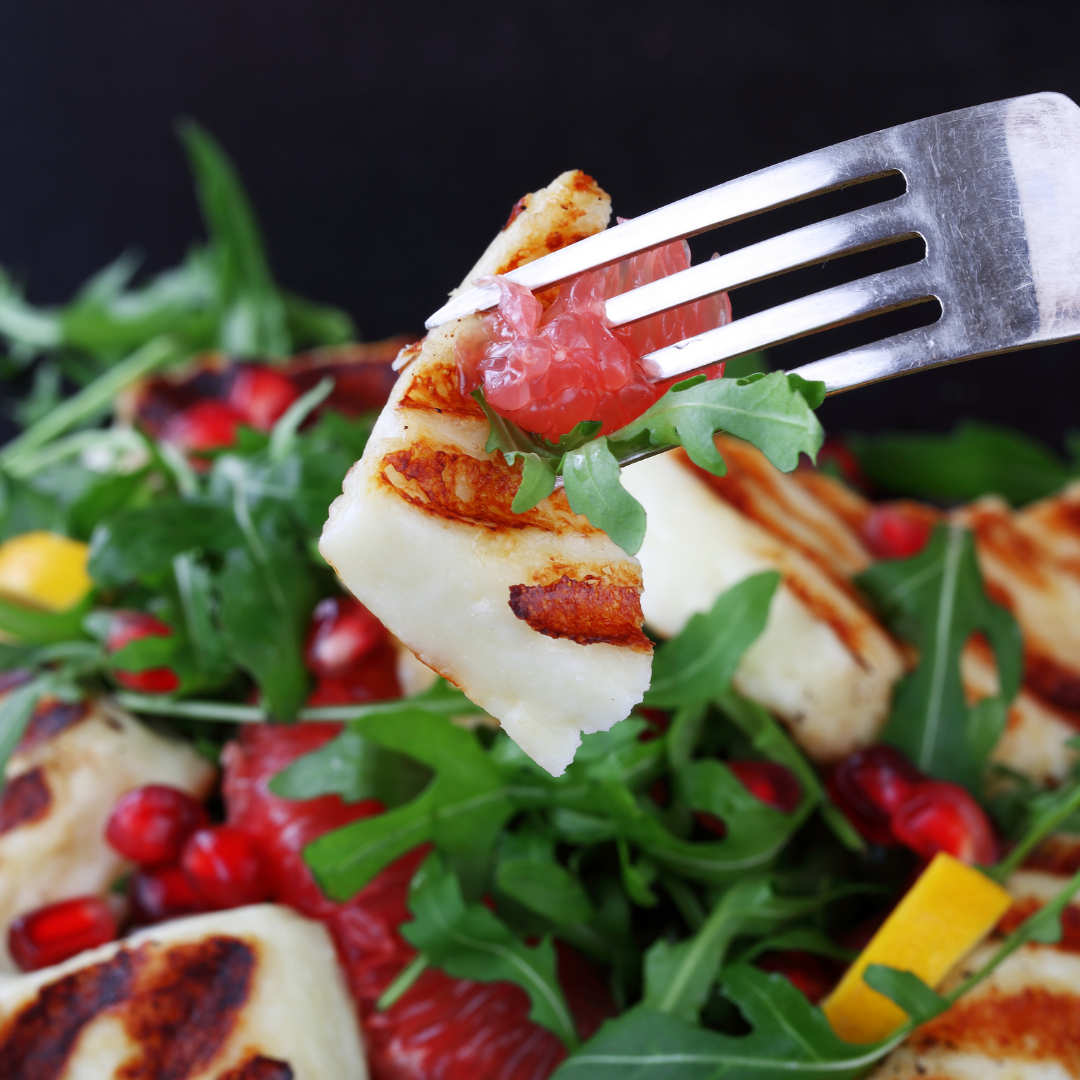 Grilled Halloumi with a Citrus Salad