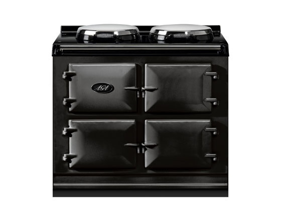 3 oven Dual Control AGA Cooker, DC3, in Black