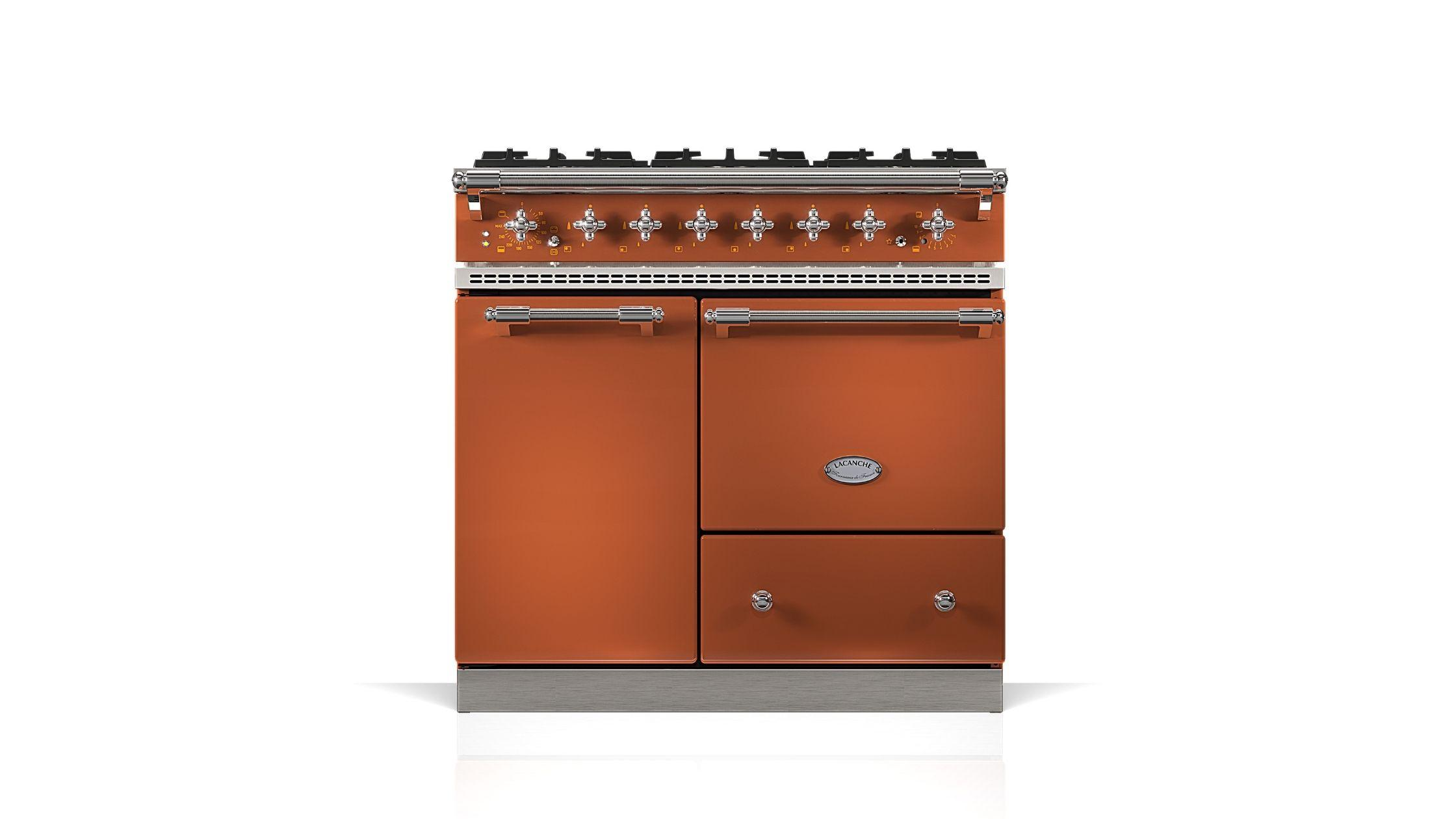 Bussy in Terracotta with Chrome Trim