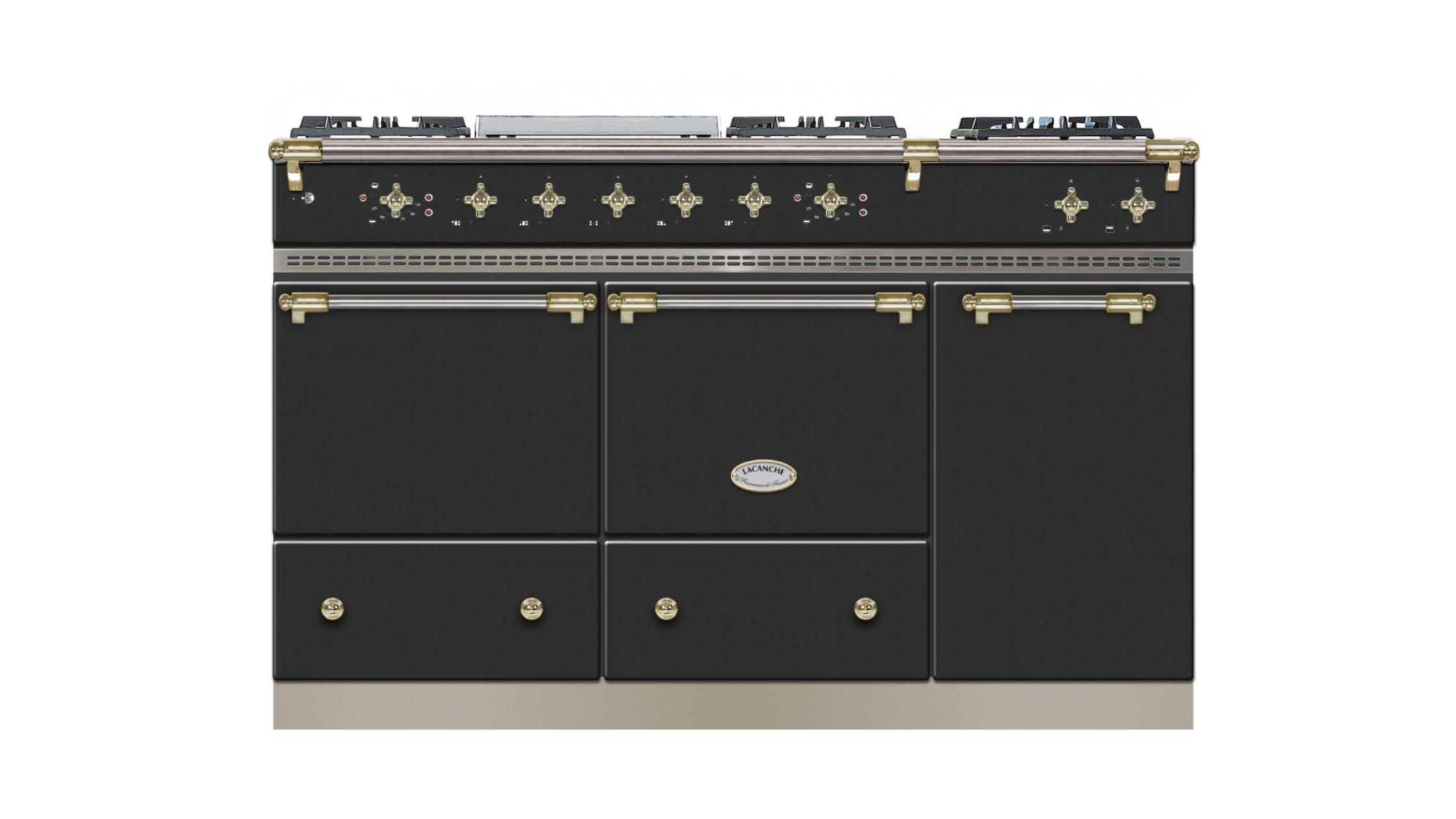 Chablis in Anthracite and Brass Trim