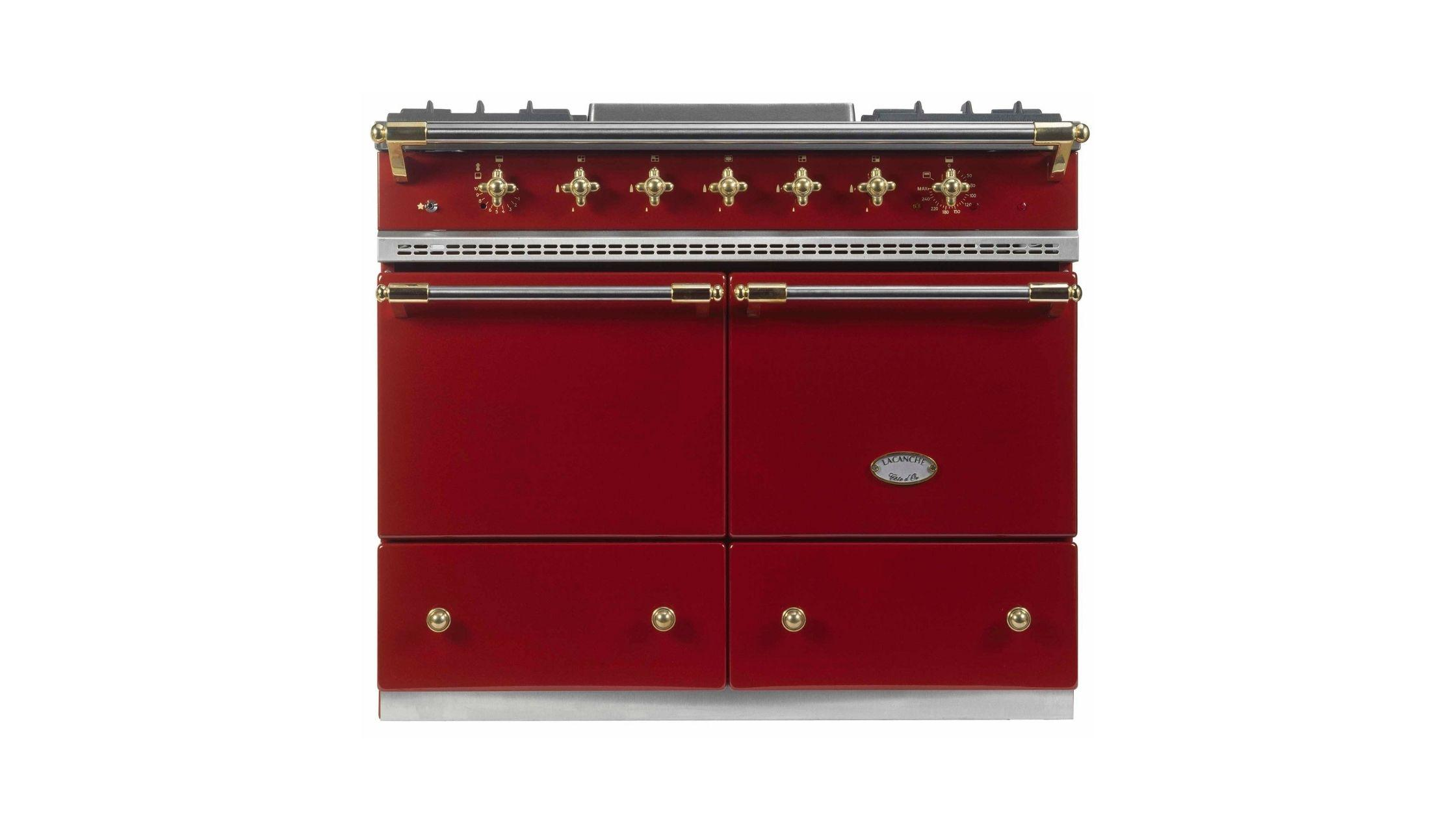 Cluny in Burgundy Red and Brass Trim