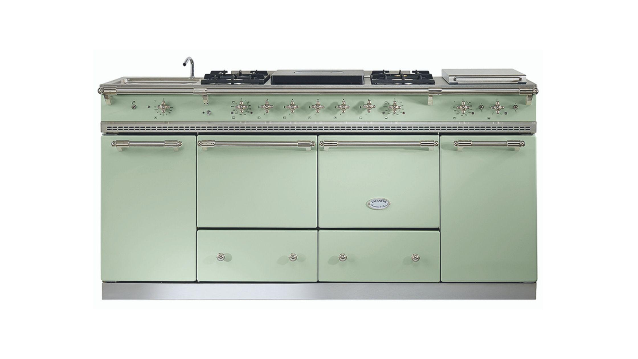 Flavigny in Lime Green and Nickel Trim