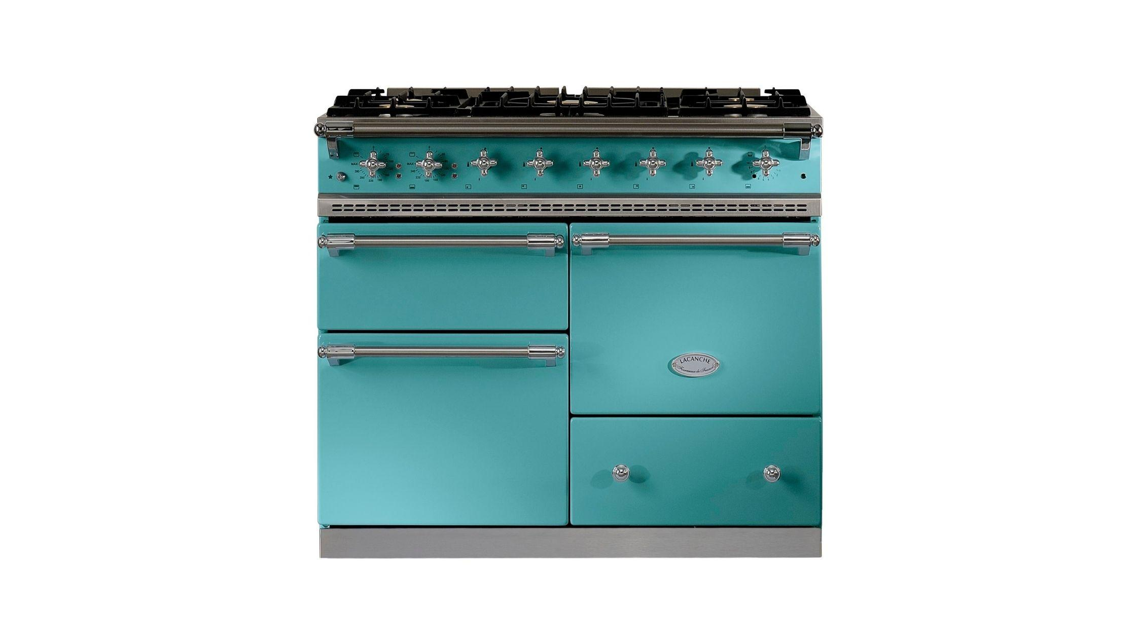 Macon in Teal Blue with Chrome Trim