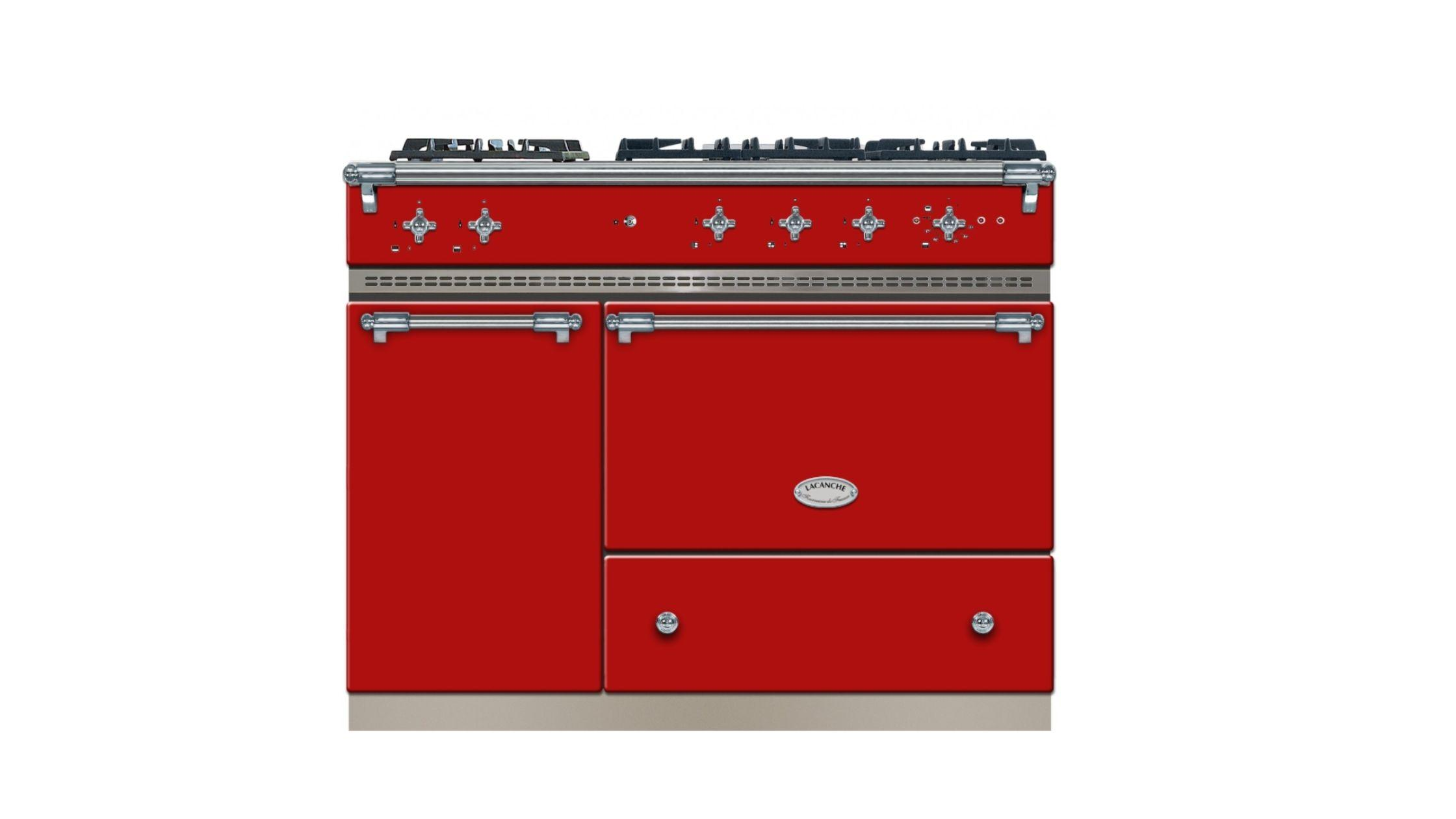 Saulieu in Cherry Red and Chrome Trim