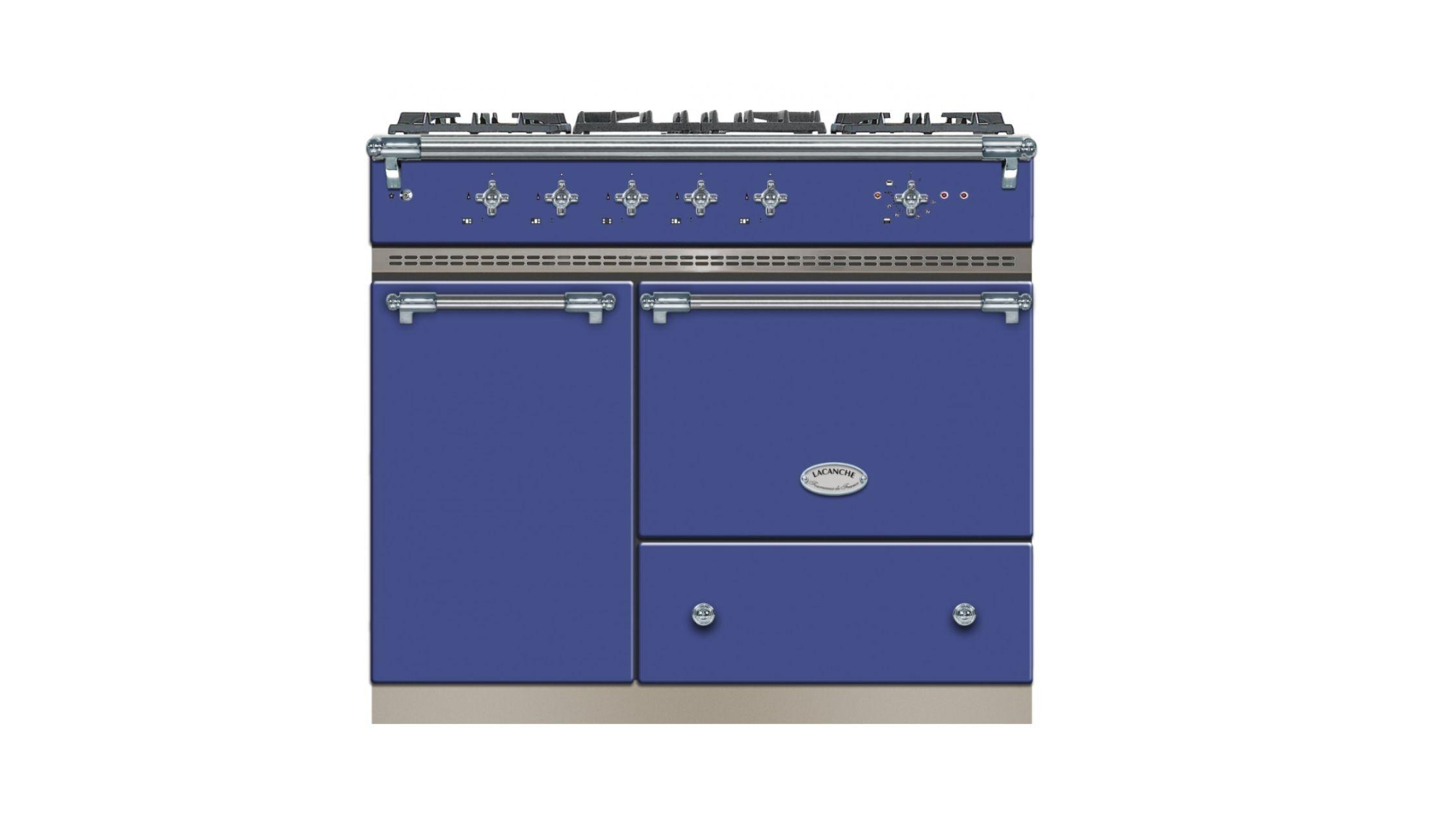 Volnay in Portuguese Blue and Chrome Trim