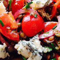 Puy Lentils with Gorgonzola