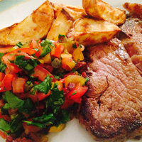 Tomato Salsa with Steak