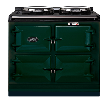 3 oven Total Control AGA, TC3, in British Racing Green